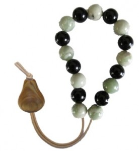 1Pear - Ash, Kangaroo with Peace Jade/Black Onyx